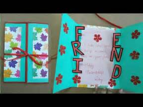 friendship day card ideas diy friendship card how to make card for friends