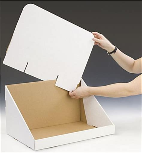 Cardboard Countertop Displays by Oversize Cardboard Countertop Bin 22 5 Quot H White Counter