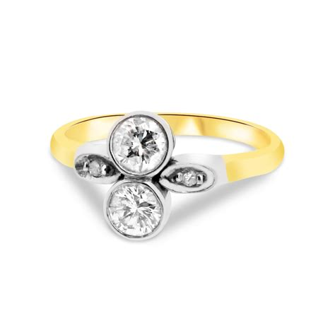 18ct yellow gold and platinum two vintage
