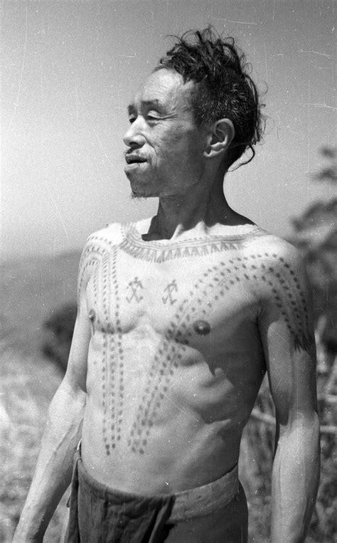 naga tribe tattoo india portrait of chinyang konyak naga with chest