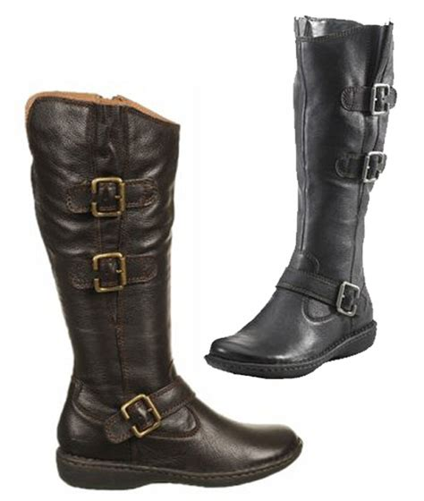 born b o c leather mid calf boots black brown ebay