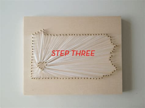 Nail And String State Tutorial - you should totally make diy state string design crush