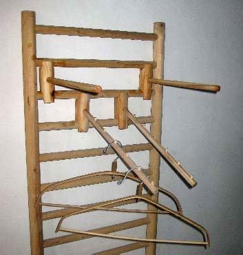1 sided wood dowel shelf