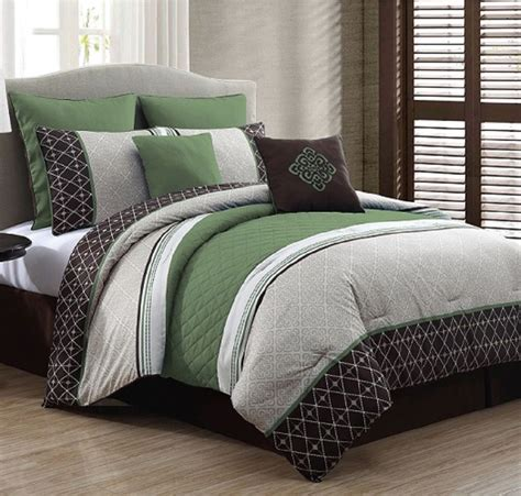 bed in a bag queen size luxurious queen size bed in a bag 8 piece comforter set bedroom bedding green ebay
