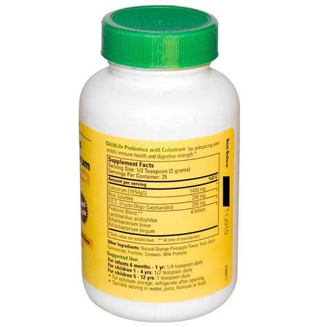 Childlife Probiotics With Colostrum Orange Pineapple Flavor childlife probiotics with colostrum powder orange pineapple 50 g babyonline