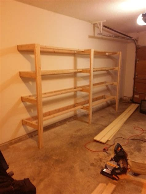 diy garage shelves diy garage shelves imgur for the home