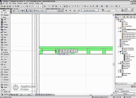 section archicad archicad object beam and block flooring section object