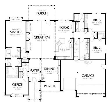 Two Story House With All The Living Areas On The 1st Floor Two Story House Plans Bonus Room