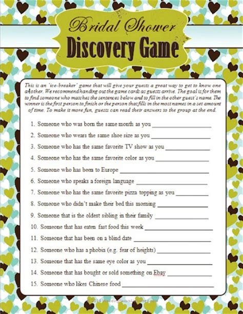 bridal shower discovery game free printable 10 free printable bridal shower games page 2