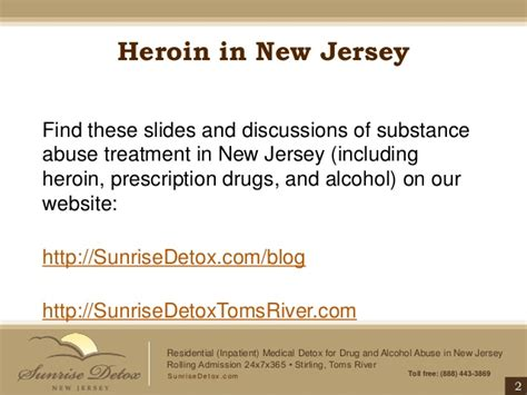Substance Abuse Detox Centers Nj by Heroin Addiction Treatment In New Jersey Bags Bundles