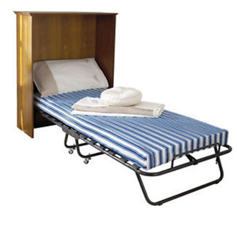 Comfortable Folding Bed Deluxe Folding Guest Bed Comfortable 4 Quot Thick Mattress Folds Away For Storage Ebay