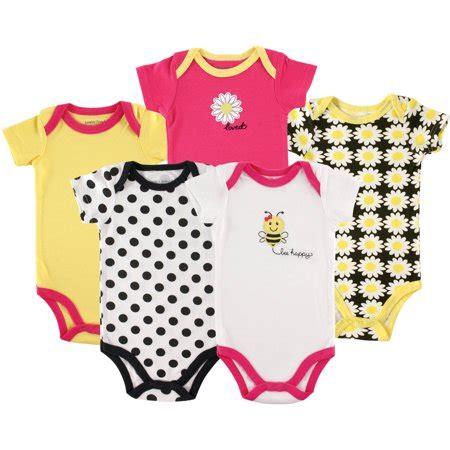 Hudson 5 Bodysuit Tea 6 9m by Luvable Friends Newborn Baby Bodysuit 5 Pack Bee