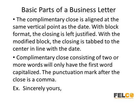 business letter format center vertically lesson 2 business letters parts and formats ppt