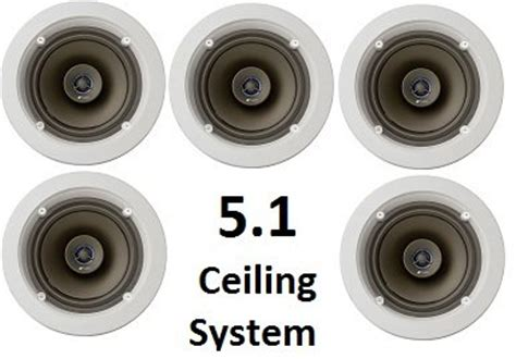 niles 5 1 ceiling mount surround sound system set of