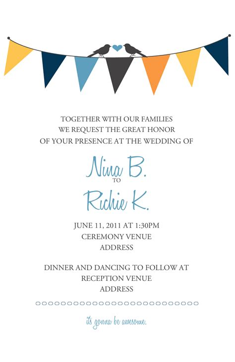 free wedding design invitation template