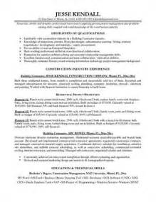Government Contractor Resume by Pin Construction Resume Exle General Contractor Sle Resumes Pictures On