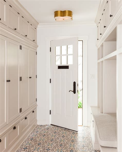 mudroom tile mudroom design with to locker cabinets