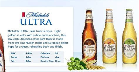how many carbs in michelob ultra light brand family michelob ultra new light cider gluten
