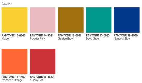 pantone color palette graphics playful release