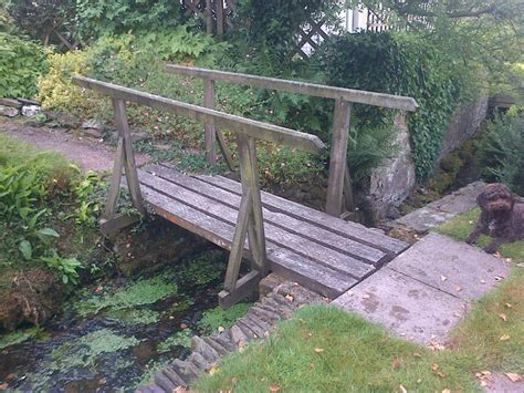small wooden bridge decorative wooden bridge the wooden workshop oakford devon