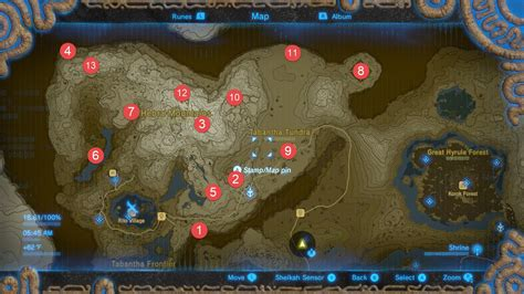 Legend Of The Breath Of The Map the legend of breath of the all shrine locations walkthrough and map guide