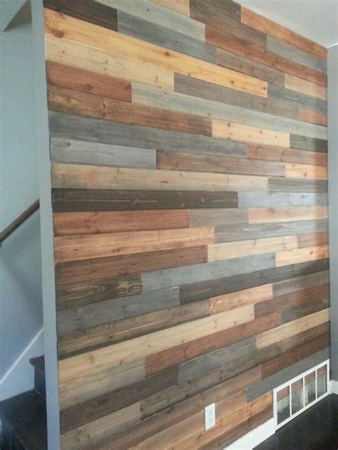 faux pallet wall living room ideas pinterest