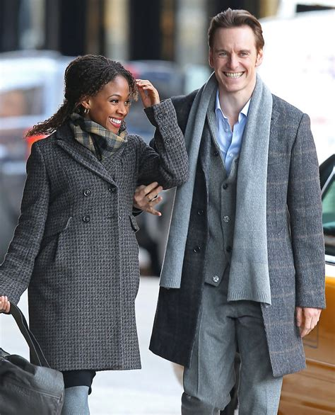 wht actors with black wives or girl friends michael fassbender and nicole beharie photos photos
