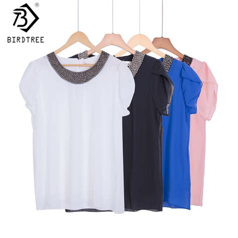 beading shirts exclusive 9 color s 4xl new blouses chiffon