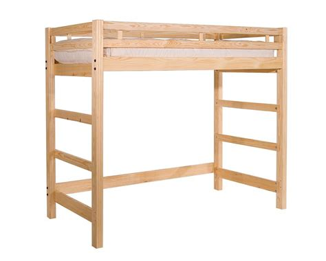 lofted bed frame twin loft bed liberty style