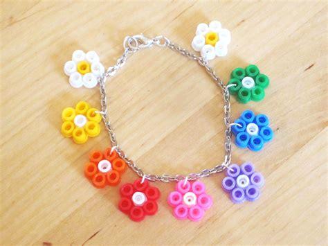 {DIY} Bracelet Fleurs Perles Hama