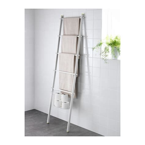 Hjalmaren Ladder Shelf by Sprutt Towel Holder White 190 Cm