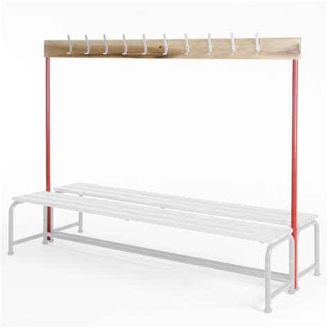 changing room benches with hooks school changing room single sided coatrail