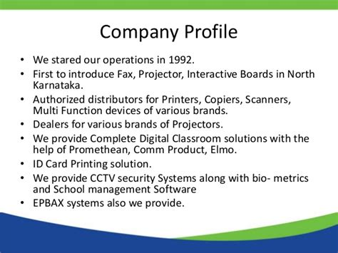 security company profile template company profile