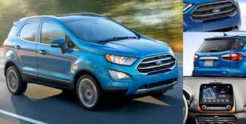 Ford Ecosport Review 2017 Ford Ecosport Design Review Modish Update Motoroids