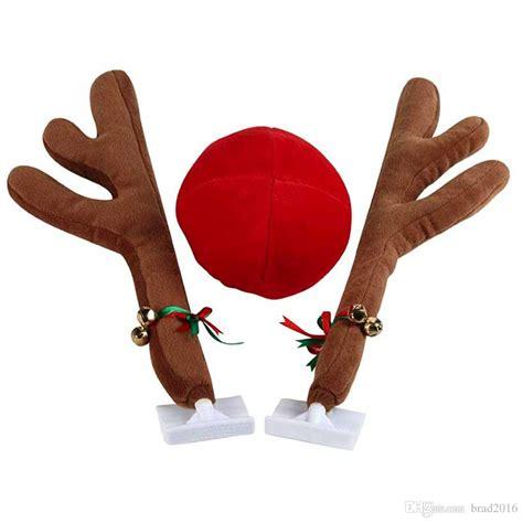 christmas reindeer antlers car costume antlers nose set