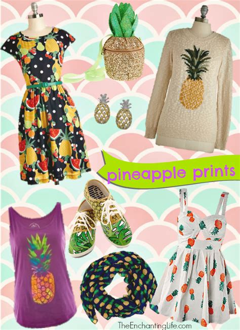 pineapple trend fashion trend pineapple prints on clothing and accessories