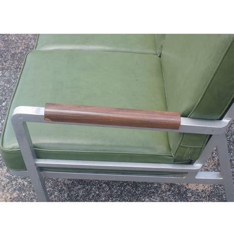 green vintage sofa vintage aluminum green three seater sofa ebay