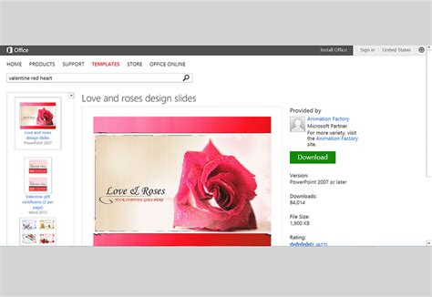 Free Valentine S Day Templates For Ms Office Office Powerpoint Templates