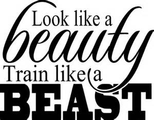 Beast quot vinyl decal home professional gym motivational wall quote decor