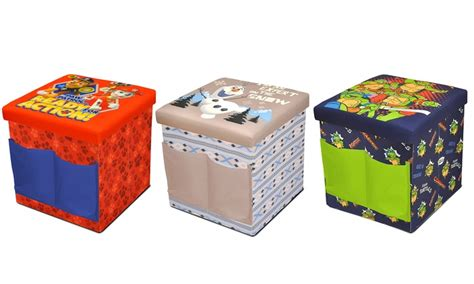 sit and store storage ottoman kids sit and store folding character ottomans groupon