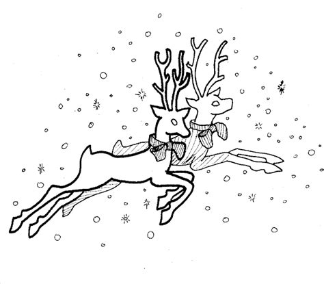 coloring pages of reindeer flying reindeer coloring pages