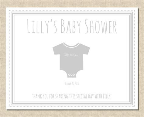 baby shower placemats personalized printable paper placemat by