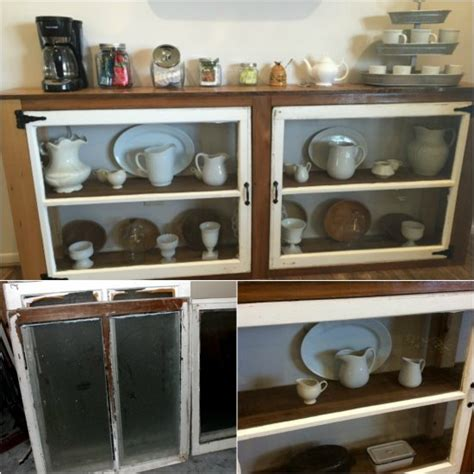 How To Build A Buffet From Old Windows Reclaimed Wood How To Make A Buffet
