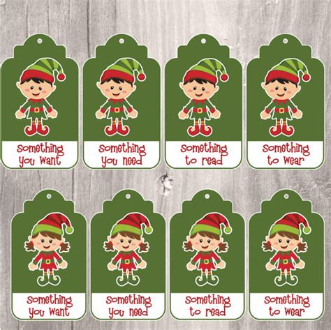 printable elf gift tags christmas gift tags elves something you want printable