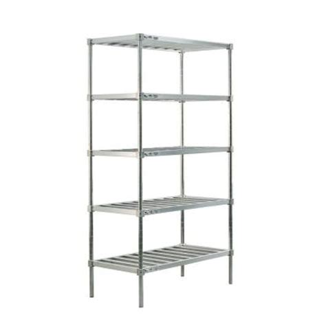 new age industrial 5 shelf aluminum t bar style adjustable
