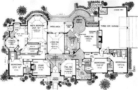 monsterhouse plans european style house plans 4615 square foot home 1 story 4 bedroom and 4 bath 3 garage