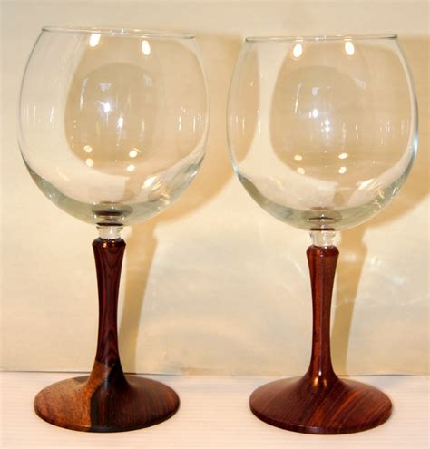 Wooden Soutern Grind wine glasses 18oz rocky roost wood turning syd sellers