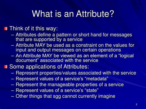 pattern attribute definition ppt report from the atf powerpoint presentation id 3372331