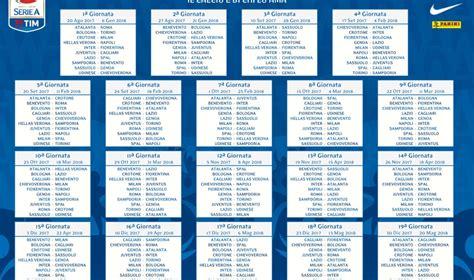 Calendario Serie A Napoli Calendario Serie A 2017 2018 Crotone Debutto Col Milan