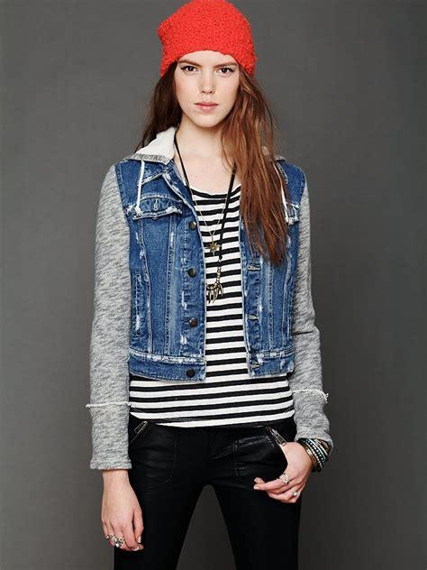 knit hooded denim jacket free knit hooded denim jacket at free